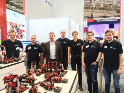 Team from the University Emden-Leer at the Hannover Messe